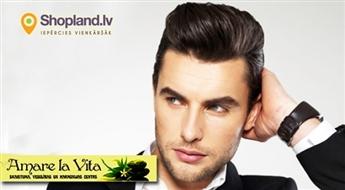 Amare La Vita: Moderns matu griezums vīriešiem + veidošana ar profesionālo kosmētiku