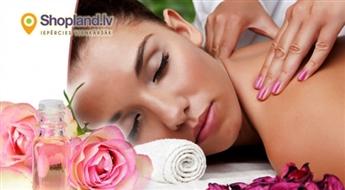 Relaksējoša visa ķermeņa masāža ar rožu eļļu (60min.)