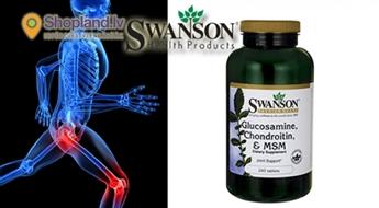 SWANSON: Glukozamīns, Hondroitīns un MSM (120 tabletes) locītavu spēkam un veselībai