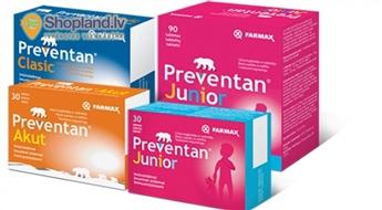 FARMAX: Preventan Junior, Classic vai Akut - efektīva profilaksei gripas un saaukstēšanās periodā