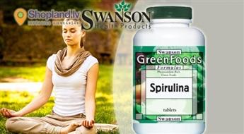 SWANSON: Spirulīna N180 imūnsistēmas stiprināšanai, svara normalizēšanai un enerģijai