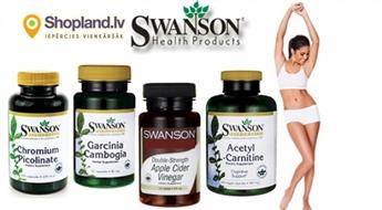 SWANSON: L-Karnitīns, Ābolu etiķa kapsulas, Hroms