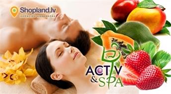 Activ & SPA: eksotisks mango - kanēļa vai papaijas un zemeņu SPA rituāls pārim (90min.)