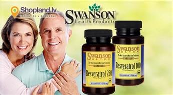 SWANSON: Resveratrols - sirds asinsvadu veselībai (30 kapsulas)