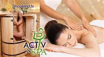 Activ & SPA: Relaksējoša procedūra fitosaunā + masāža (90 min)