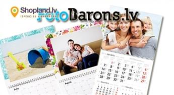 FOTOBARONS: Personalizēts sienas fotokalendārs ar Tavām bildēm, jubilejām, tekstu un dizainu
