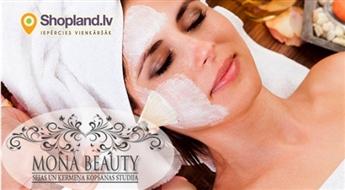 Mona Beauty: Sejas tīrīšana + sejas masāža + darsonvalizācija