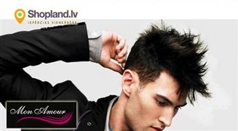 Mon Amour: Moderns matu griezums vīriešiem + galvas masāža + ieveidošana
