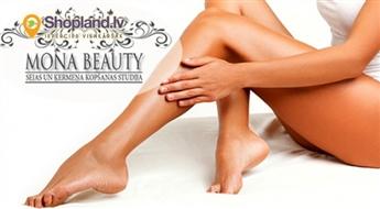 Mona Beauty: Kāju, bikini vai padušu vaksācija zīdaini gludai ādai!