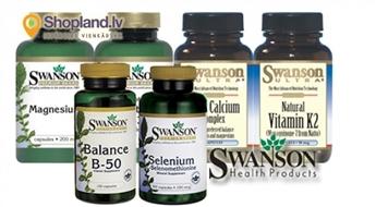 SWANSON: B vitamīns, Magnijs, Koraļļu kalcijs, Selēns u.c. vitamīni un minerālvielas visai ģimenei