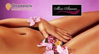 Mon Amour: dziļais bikini vai kāju + padušu vaksācija