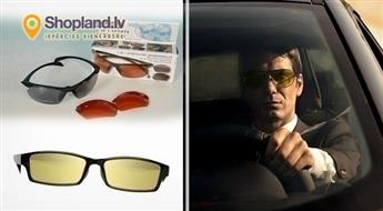 Polarizētās brilles autovadītājiem vai sportistiem (2 in 1) redzamības uzlabošanai