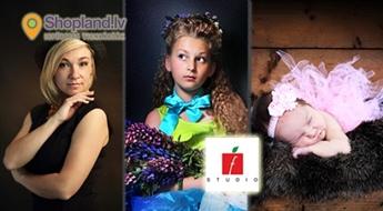 fstudio.lv: Ģimenes, individuālā vai draugu fotosesija profesionālā studijā (90 min.)